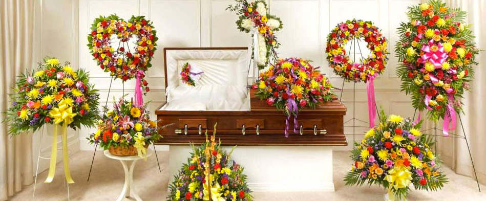 Bright Sympathy Funeral Flower Arrangements