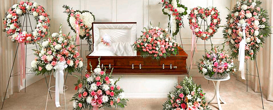 Pink Sympathy Funeral Flower Arrangements Delivery to Toronto