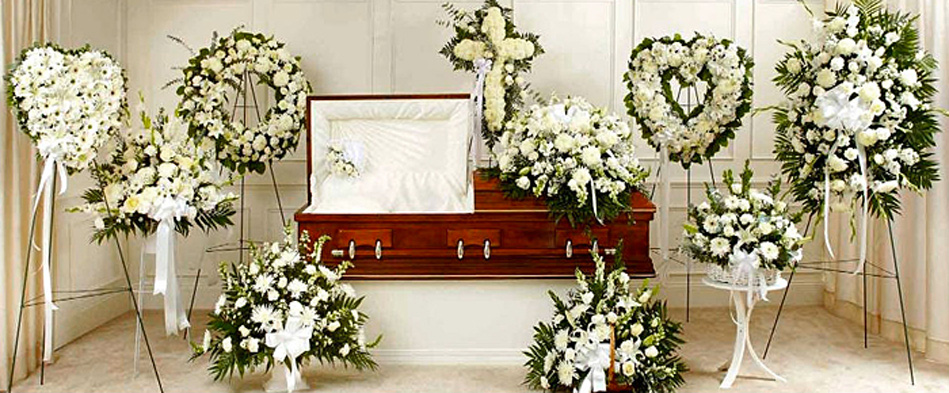 White Sympathy Funeral Flower Arrangements