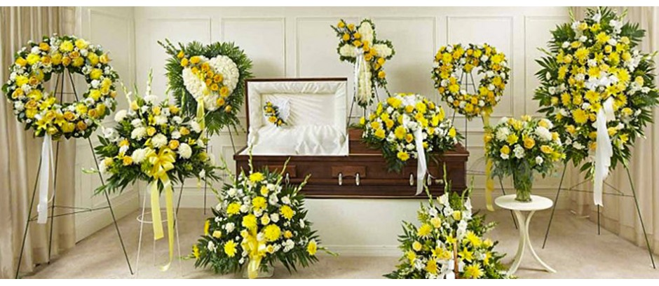 Yellow Flowers Sympathy Arrangements