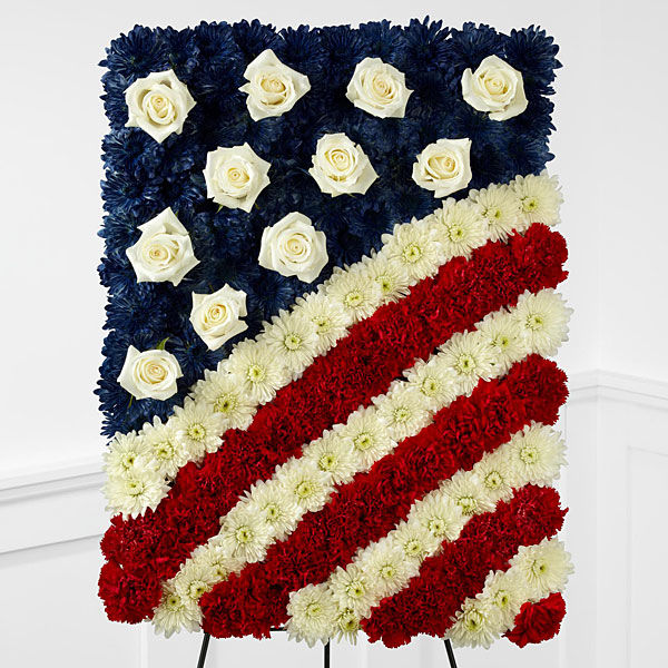 American Floral Flag