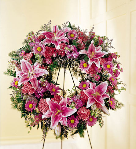 Loving Remembrance Wreath Flowers