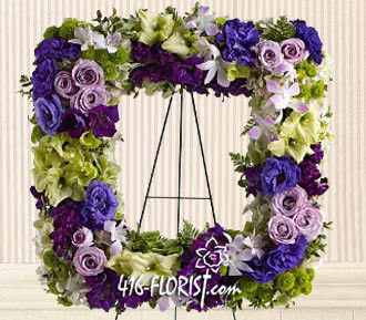 Square Funeral Wreath Arrangement
