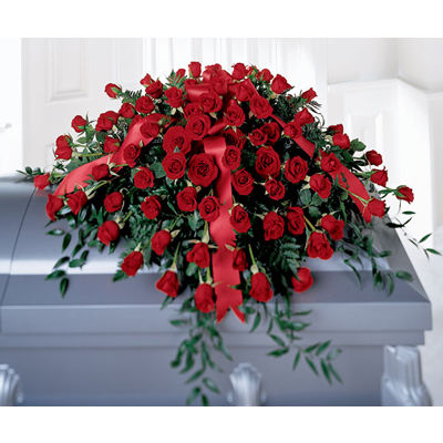 Dearly Departed Casket Flower Spray