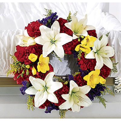 Grace Flowers Casket Adornment