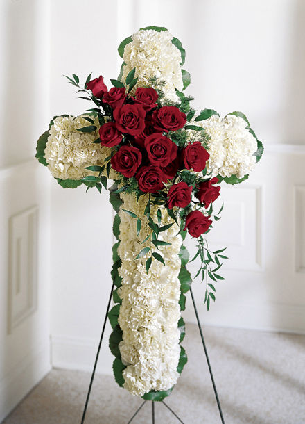 Floral Funeral Cross