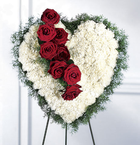 Bold Heart Funeral Flowers