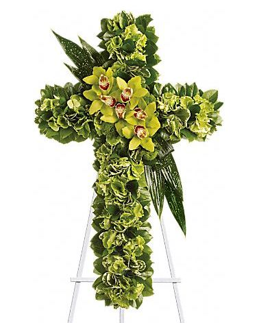 All Green Cross Standing Spray
