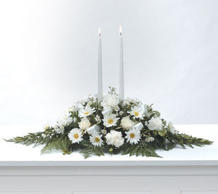 Peaceful White Centre Piece