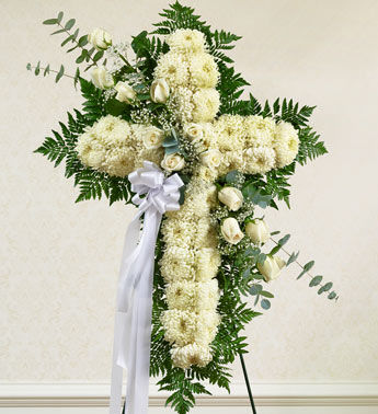 Cross Funeral Arrangements Flowers