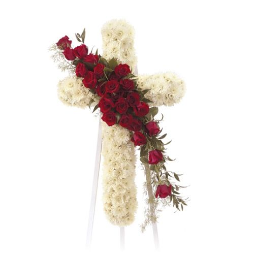 Cross Flowers For Funeral