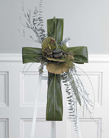 Funeral Green Cross Easel