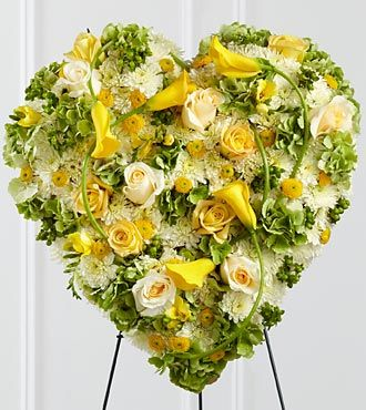 Radiant Shades Heart Flower Wreath