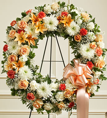 Rich Gold Funeral Wreath