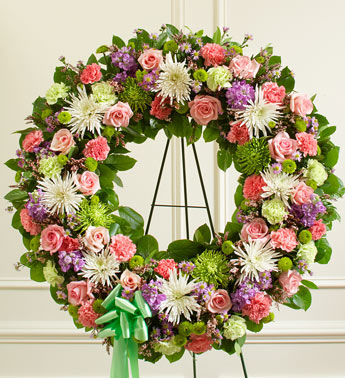 Picturesque Greens Funeral Wreath