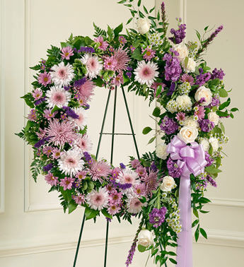 Luxurious Purple Funeral Wreath