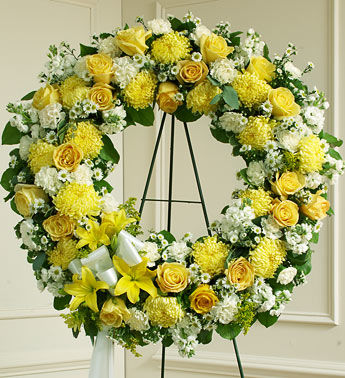 Bright Beauty Funeral Wreath