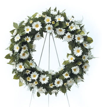 Classic White Funeral Wreath