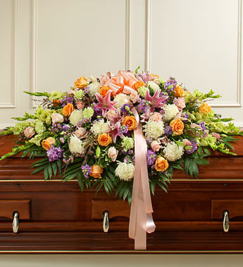 Color Splash Funeral Casket Spray