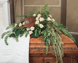 Waterfall Casket-Funeral Flower Spray