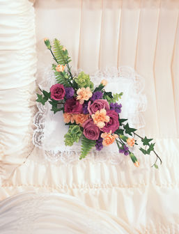 Elegant Flower Casket Adornment