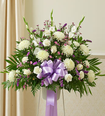 Purple and White Delight Basket