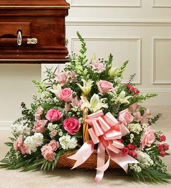 Funeral casket flowers spray arrangement mightylinksfo