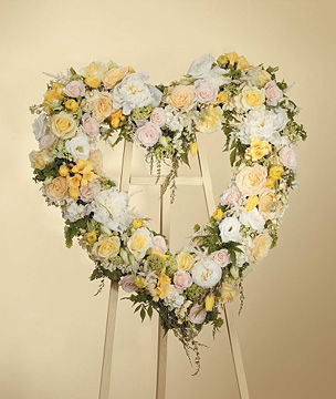 Heart Sympathy Wreath Arrangement