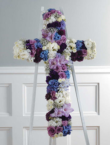 Sympathy Cross Funeral Flowers