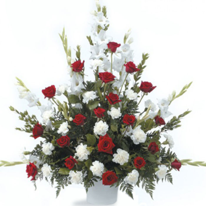 Just Red and White Tribute Arrangement