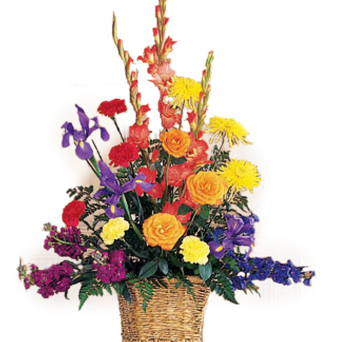 Basket of Mix Sympathy Flowers