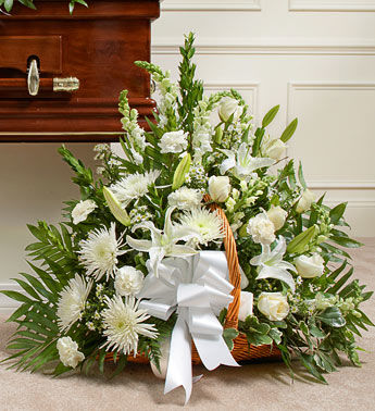 Glorious Green Funeral Flower Packege