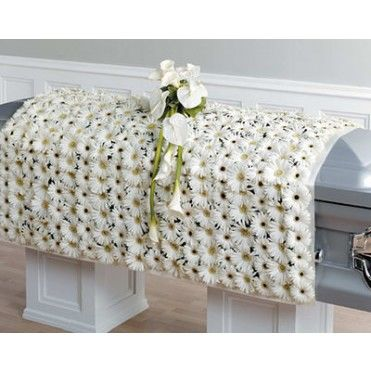 Funeral White Blanket of Flowers