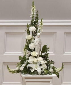 White Madonna Sympathy Arrangement