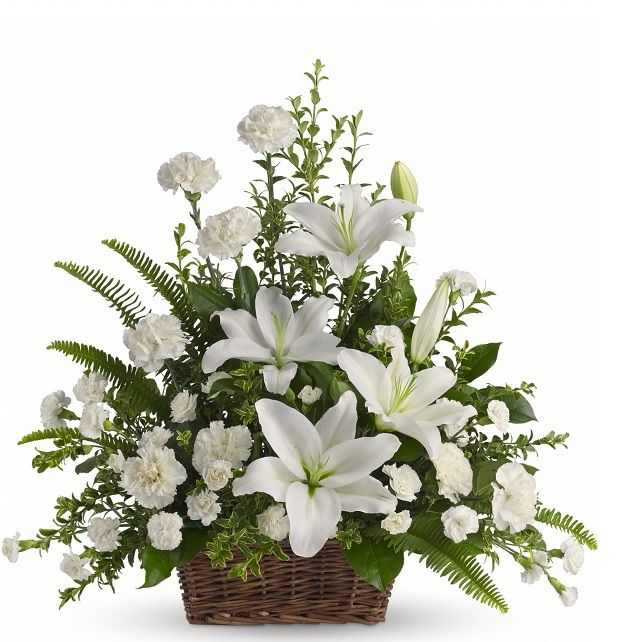 Heartfelt Condolence White Funeral Arrangement